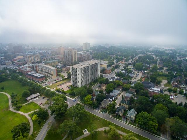 Aerial Photo of Victoria Park, Kitchener, Ontario