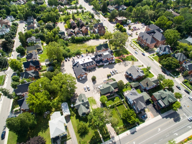 Aerial Photo of Barra on Queen, Queen Street, Kitchener, Ontario